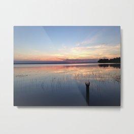 Summer Lake Sunset Metal Print