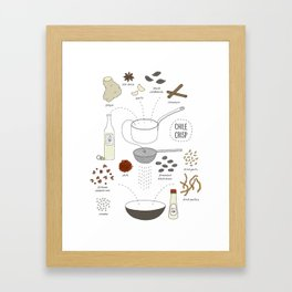 Chili Crisp Framed Art Print