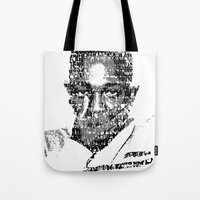 kendrick lamar Tote Bags featuring King Kendrick  by Tyvenchy