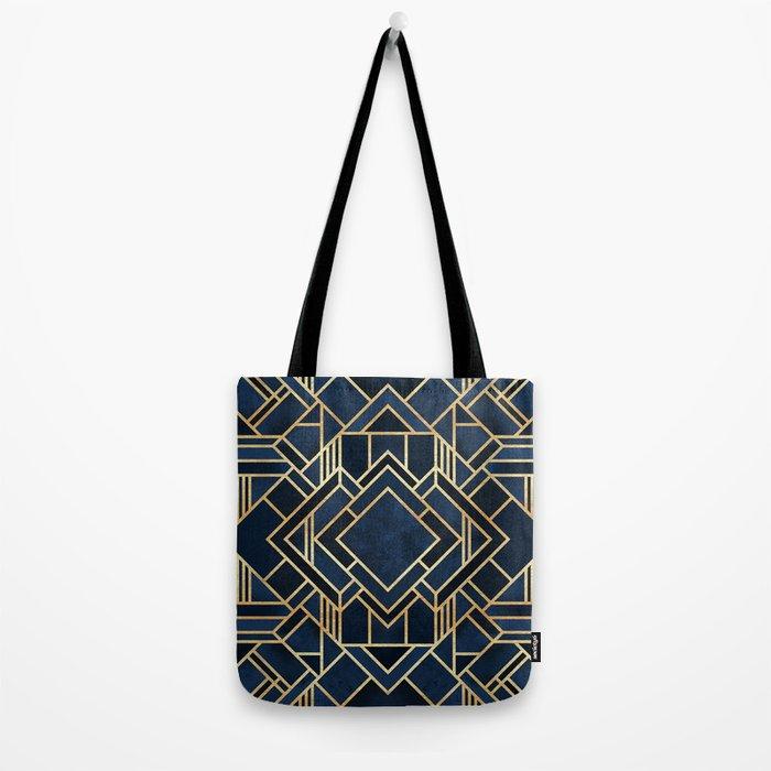 Art Deco Fancy Blue Tote Bag