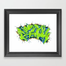 Vecta Wall Smash Framed Art Print