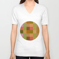 quilt V-neck T-shirts featuring quilt by Isabella Asratyan