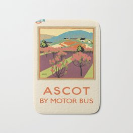 posters ASCOT BY MOTOR BUS 1922 Bath Mat