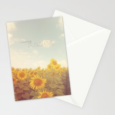 Bohemian Sunflowers Stationery Cards