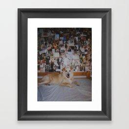 polaroid: happy collage. Framed Art Print