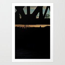 Man on the Bridge - Los Angeles #42 Art Print