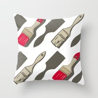 tool Throw Pillows featuring Tool Time by Pattern Design