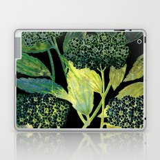 Dark floral with golden accent Laptop & iPad Skin