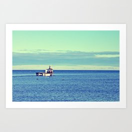The Fisherman's Journey Art Print
