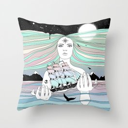 Journey to A Greater Existence (Your Life On Your Hands) Throw Pillow