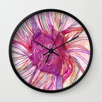 forever young Wall Clocks featuring FOREVER YOUNG by flaviasorr