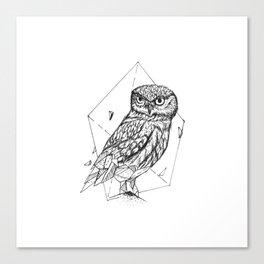 Geometric Season1:9 Owl Canvas Print