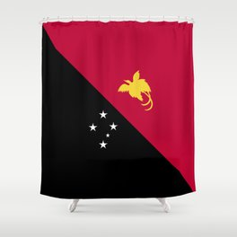 Papua New Guinea flag emblem Shower Curtain