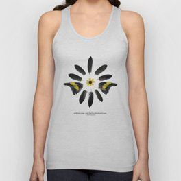goldfinch wings, crow feathers, black eyed susan Unisex Tank Top