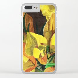 Golden Gorse Flowers Clear iPhone Case