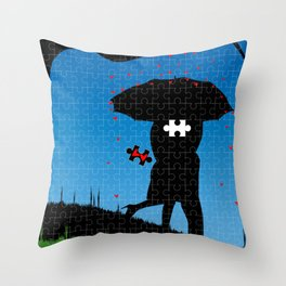 Missing Heart Throw Pillow