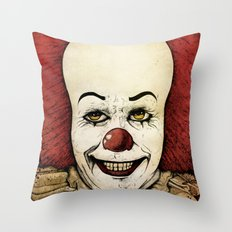 It - Pennywise (Color Version) Throw Pillow