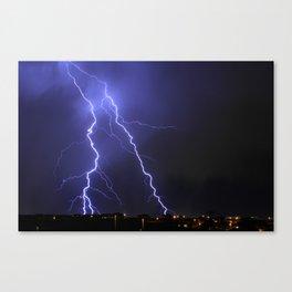 Salt Lake Lightning Canvas Print