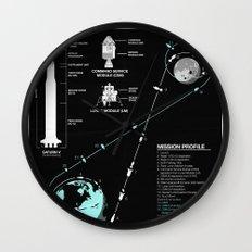Apollo 11 Mission Diagram Wall Clock