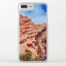 Red Rock Hike Clear iPhone Case