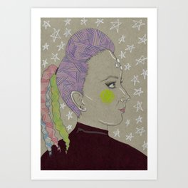 Jenna Marbles: Intergalactic Space Queen Art Print