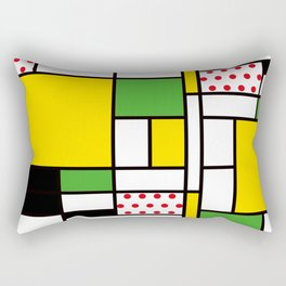 Mondrian - Bycicle Rectangular Pillow