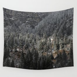 Powdered Mountain Wall Tapestry