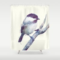 birds Shower Curtains featuring Bird // Trust by Amy Hamilton
