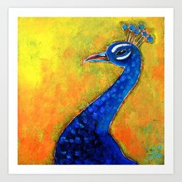 Peacock art: GLOW Art Print