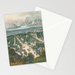 Vintage Pictorial Map of Salt Lake City UT (1870) Stationery Cards
