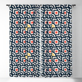 Round Pegs Square Pegs Navy Blue Blackout Curtain