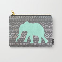 Mint Elephant  Carry-All Pouch