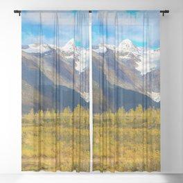Autumn in Portage Valley - Alaska Sheer Curtain