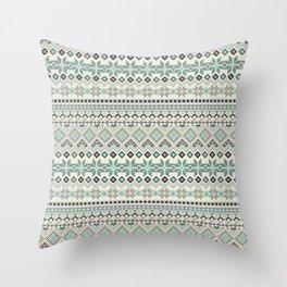 V40 Boho Vintage Anthropologie Pattern Throw Pillow
