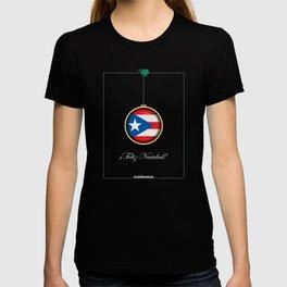 Feliz Navidad Puerto Rico Flag T-shirt