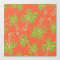 palm trees Canvas Prints featuring Palm Trees by Allyson Johnson