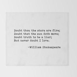 William Shakespeare quote 02 Throw Blanket