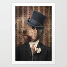 Airedale Terrier Dogs - Sir Winston Art Print