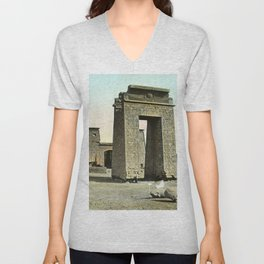 Karnak. Gate and Pylon Unisex V-Neck