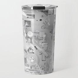 White Gears Travel Mug