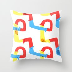 Hamster tube fun time Throw Pillow