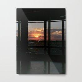 Sunset in Baires Metal Print