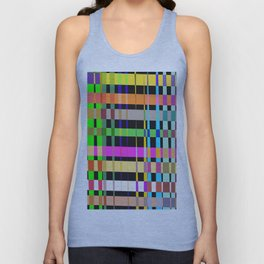 inclined coloured stripes Unisex Tank Top