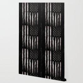 White Grunge American flag Wallpaper