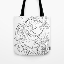Sea Serpent - ink Tote Bag