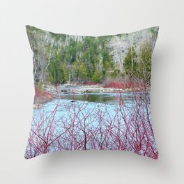 River of Trees Throw Pillow