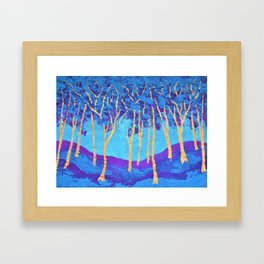 Twilight Woods #339 by Mike Kraus-art aceo blue purple copper miniature small great gifts presents Framed Art Print