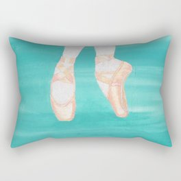 BALLET SLIPPERS ON POINT Rectangular Pillow