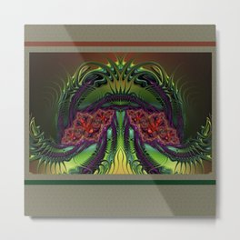 FRACTAL QUEEN, light, ABSTRACT, multicolor 3d, prints, Gifts and Decor Metal Print