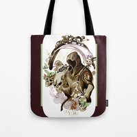 tarot Tote Bags featuring Death Tarot by A Hymn To Humanity